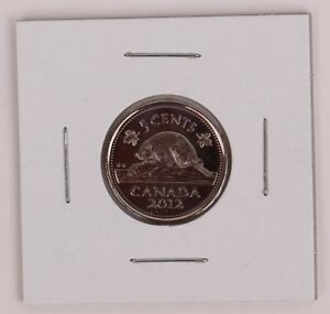 2012 5C CANADA 5 CENTS NICKEL UNCIRCULATED RIGHT FROM THE BANK WRAP