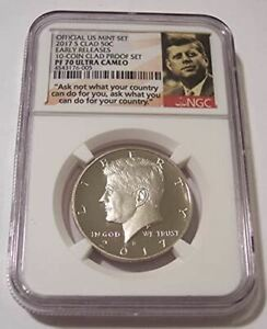 2017 S CLAD KENNEDY HALF DOLLAR PROOF PF70 UC NGC EARLY RELEASES