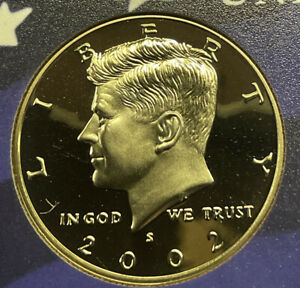 2002 S PROOF KENNEDY CLAD HALF DOLLAR FROM PROOF SET
