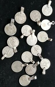 AFGHANISTAN LOT 10 PUL 1937 MADE INTO JEWELLERY