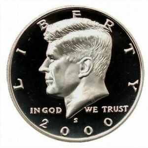 2000  S PROOF KENNEDY CLAD HALF DOLLAR   FROM THE PROOF SET.