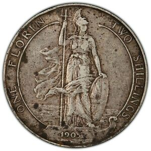 Click now to see the BUY IT NOW Price! 1905 GREAT BRITAIN FLORIN S 3981 EDWARD VII PCGS XF40 KM 801