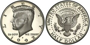 1992 S SILVER PROOF KENNEDY HALF DOLLAR   GEM DEEP CAMEO  FROM SILVER PROOF SET