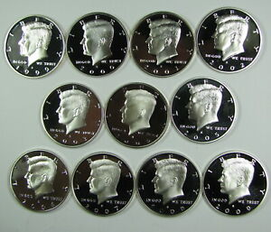 1999 2000 TO 2019 2020 SILVER PROOF CAMEO KENNEDY HALF DOLLAR RUN 22 COINS