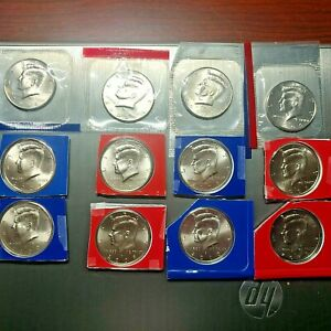 2005   2010 P D KENNEDY SATIN SET OF 12 U S COINS IN MINT WRAP