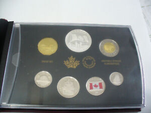 Click now to see the BUY IT NOW Price! 2015  1$  CANADA PROOF SET   TOONIE  LOONIE FIFTY CENT QUARTER NICKEL DIME