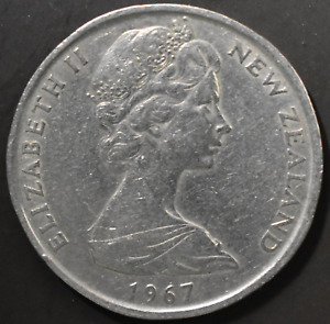 NEW ZEALAND 1967 50 CENTS   ENDEAVOUR TALL SAILING SHIP