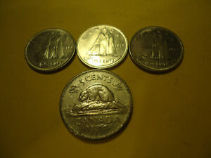 FOUR CANADIAN COINS     1979 NICKEL 3 1979 DIMES       USA SELLER