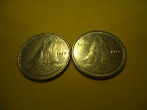 TWO CANADIAN COINS     1973 1974 DIMES       USA SELLER