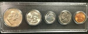 1954 D UNCIRCULATED MINT SET IN WHITMAN HARD PLASTIC CASE