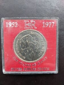 THE STATES OF JERSEY SILVER JUBILEE CROWN 1952  1977