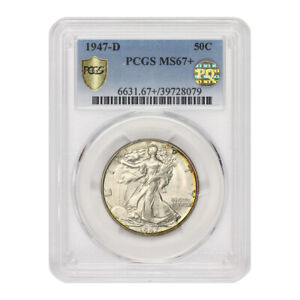 Click now to see the BUY IT NOW Price! 1947 D 50C SILVER WALKING LIBERTY PCGS MS67  PQ APPROVED HALF DOLLAR GEM COIN