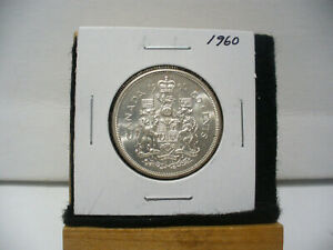Click now to see the BUY IT NOW Price! 1960  CANADA  SILVER  HALF  DOLLAR  50 CENT PIECE   60  GOOD GRADE