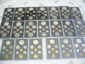 Click now to see the BUY IT NOW Price! LOT OF 23  CANADA PROOF SETS 1974 1996  .500 & .925  SILVER  DOUBLE  DOLLAR