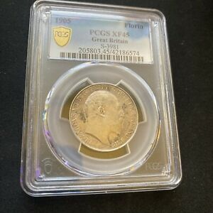 Click now to see the BUY IT NOW Price! 1905 GREAT BRITAIN FLORIN PCGS XF 45