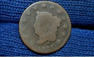 1821 LARGE CENT  NICE BROWN  LOW MINTAGE YEAR  BARGAIN PRICE