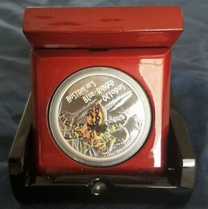 Click now to see the BUY IT NOW Price! TUVALU OCTOPUS 2008 PERTH MINT .999 SILVER 1OZ PROOF COIN DEADLY & DANGEROUS
