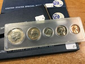 1967 US SPECIAL MINT SET 40  SILVER KENNEDY HALF 1  5 COINS SET  020821 0003