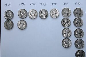 US COIN LOT 1970 1976 NICKELS 24 COINS VARIOUS CONDITIONS
