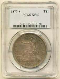 1877 S T$1 TRADE DOLLAR NGC XF 40 EXTRA FINE SAN FRANCISCO MINT US TYPE COIN