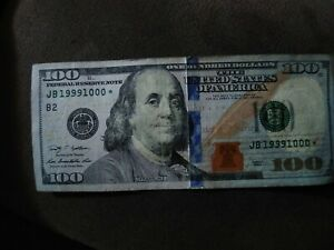 STAR  2009 A $100 BILL WITH HARD TO FIND SERIAL NUMBER