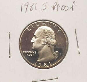 1981 S WASHINGTON  PROOF  QUARTER  AS PICTURED