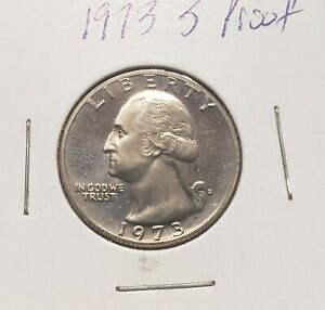 1973 S WASHINGTON  PROOF  QUARTER  AS PICTURED
