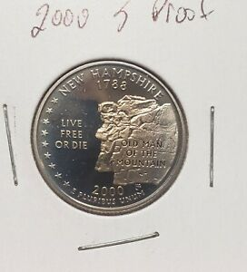 2000 S WASHINGTON  PROOF  QUARTER  AS PICTURED  NEW HAMPSHIRE