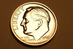 1962 P ROOSEVELT DIME US COIN   PROOF    90  SILVER   1