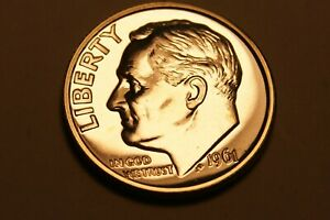 1961 P ROOSEVELT DIME US COIN   PROOF    90  SILVER   2