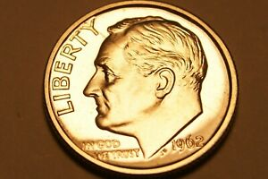 1962 P ROOSEVELT DIME US COIN   PROOF    90  SILVER   2