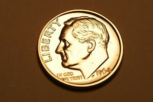 1964 P ROOSEVELT DIME US COIN   PROOF    90  SILVER   2