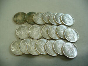 Click now to see the BUY IT NOW Price! LOT OF 20 1965  CANADA  HALF  DOLLAR  SILVER  COINS  65  LOT A  50 CENT  PIECE