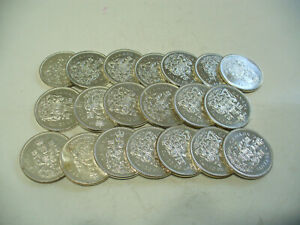 Click now to see the BUY IT NOW Price! LOT OF 20 1964 65  CANADA HALF DOLLAR  SILVER COINS  50 CENT PIECES
