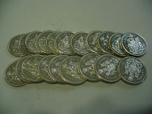 Click now to see the BUY IT NOW Price! LOT OF 20 1963  CANADA  HALF  DOLLAR  SILVER  COINS  63  LOT B  50 CENT  PIECE
