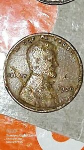 1936 DOUBLED DIE OBVERSE LINCOLN WHEAT CENT MINT ERROR PENNY DOUBLE DIE