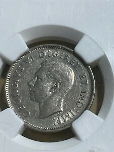 1937 CANADA 5 CENTS GRADED XF40 BY NGC