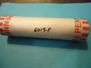 2019 P SEALED LINCOLN PENNY ROLL     HEAD TAILS     >> TRACKING INCLUDED <<