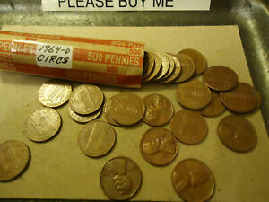 1964 D LINCOLN PENNY ROLL      >> TRACKING INCLUDED <<