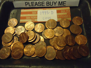1995 D CIRCS ROLL OF CENTS            >> C/S & H AVAILABLE <<