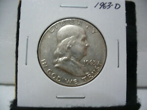 Click now to see the BUY IT NOW Price! 1963 D   BEN FRANKLIN   HALF  DOLLAR      50 CENT PIECE   COIN   63D  GOOD GRADE