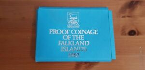 1982 FALKLAND ISLANDS PROOF SET COVER  PAPER CASE ONLY NO COINS