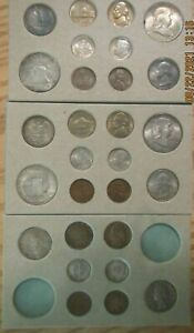 Click now to see the BUY IT NOW Price! 1948 P D S SILVER 50C 25C 10C US MINT SET 28 COINS SUPER NICE DOUBLE MINT SET