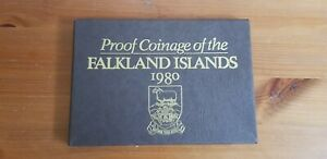 1980 FALKLAND ISLANDS PROOF SET COVER  PAPER CASE ONLY NO COINS
