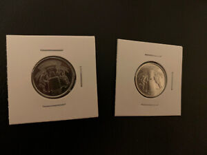 2017 CANADA 125TH ANNIVERSARY OF STANLEY CUP 25 CENT 2 COINS UNC