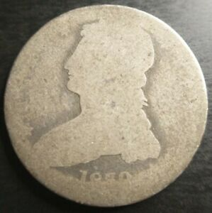 1839 CAPPED BUST HALF DOLLAR REEDED EDGE LOW BALL PO 01 CANDIDATE BETTER DATE