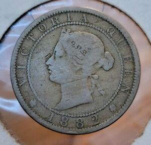 1882 JAMAICA QUEEN VICTORIA ONE PENNY WORLD COIN