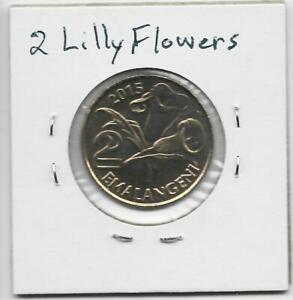 SWAZILAND 2 EMALANGENI 2015 LILLY FLOWERS OBSOLETE 1 YEAR TYPE