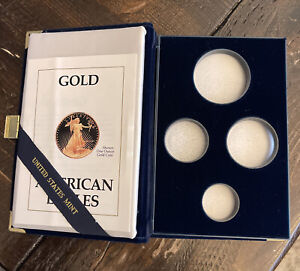 NO COINS  1990 AMERICAN EAGLE GOLD BULLION COIN PROOF SET OGP BOX