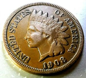 1908  INDIAN HEAD CENT     HOME OF THE $5 DEAL